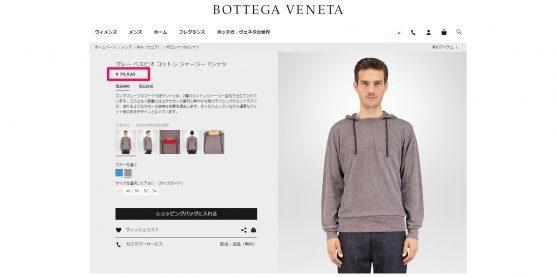 BOTTEGA VENETA フード付きセーター 国内定価