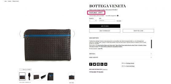 BOTTEGA VENETA イントレチャート ナッパ スモール ドキュメントケース 海外通販