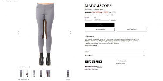 marc jacobs strech pants