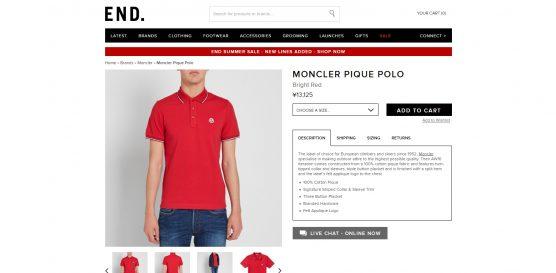 monclear ポロシャツ 海外通販