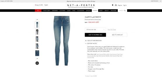 saint laurent jeans net