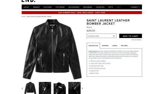 saint laurent kieth leather jacket