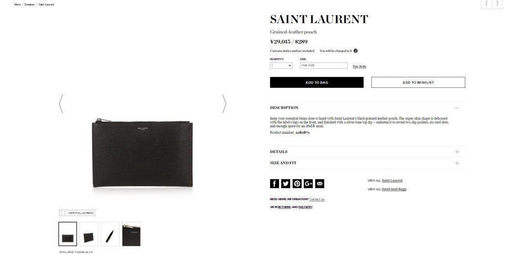 saint-laurent-leather-pouch