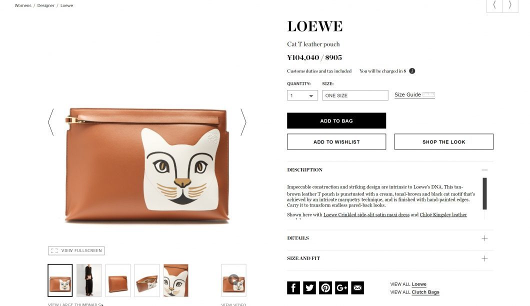LOEWE T pouch 2017ss