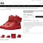 MAISON MARGIELA future high top sneaker 2017ss
