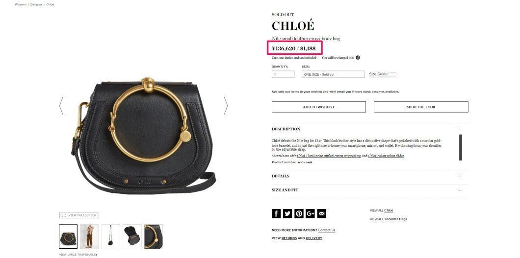 Chloe NILE bag 2017SS 海外
