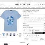 ALEXANDER MCQUEEN t-shirt mens 2017ss