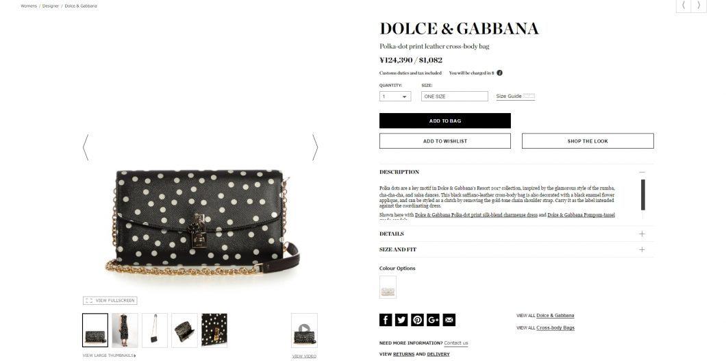 DOLCE & GABBANA polka dot cratch bag 2017ss