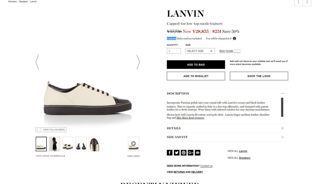 LANVIN Capped-toe low-top suede trainers 2017aw