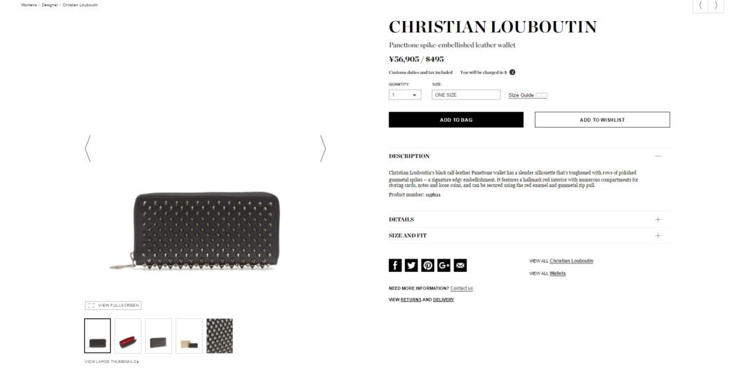 CHRISTIAN LOUBOUTIN wallet ladies 2017aw