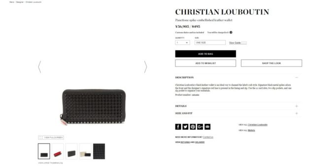 CHRISTIAN LOUBOUTIN wallet mens 2017aw