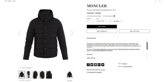 MONCLER NAZAIRE down jacket 2017aw