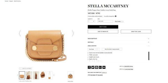 STELLA MCCARTNEY Stella Popper faux-leather cross-body bag 2017aw