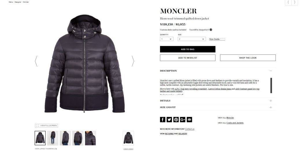 MONCLER Riom wool-trimmed quilted down jacket 2017aw