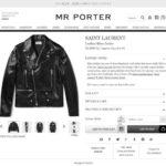 SAINT LAURENT Leather Biker Jacket 2017aw