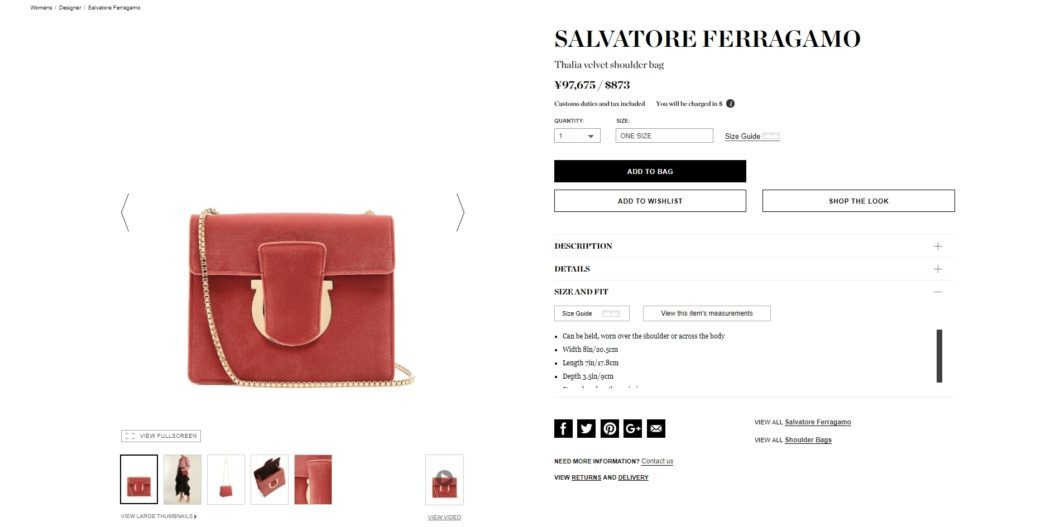SALVATORE FERRAGAMO thalia bag 2017aw