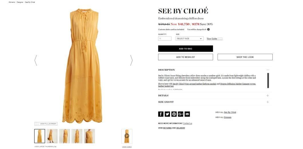 online retailer 67f3f 0bbd5 49%オフSee By Chloe(シー バイ クロエ)ワンピース2018SS春夏セール